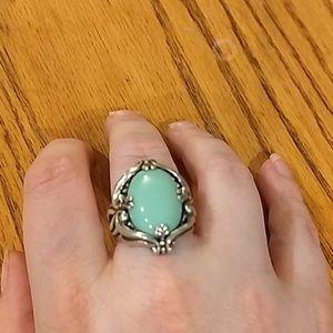 Carolyn Pollack Variscite Ring Size 7.5 Sterling